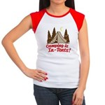 Camping Is In-Tents Women's Cap Sleeve T-Shirt