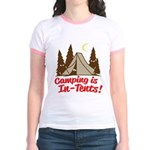 Camping Is In-Tents Jr. Ringer T-Shirt