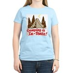 Camping Is In-Tents Women's Light T-Shirt