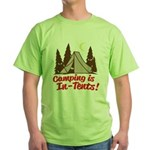 Camping Is In-Tents Green T-Shirt