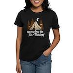 Camping Is In-Tents Women's Dark T-Shirt