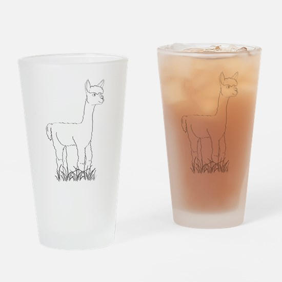 Adorable Alpaca Drinking Glass