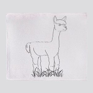 Adorable Alpaca Throw Blanket