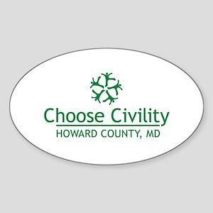 Choose Civility Logo Sticker
