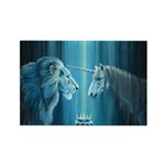 The Lion The Unicorn Rectangle Magnet (10 pack)