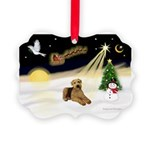 Night Flight/Airedale #5 Picture Ornament