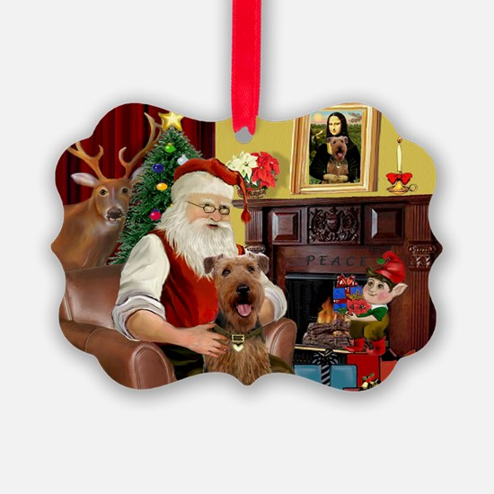 Santas Airedale Ornament