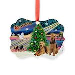 XmasMagic/Airedale Picture Ornament