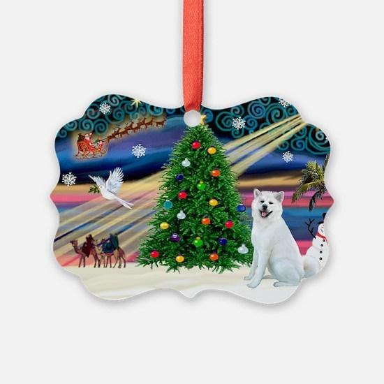 Xmas Magic & Akita Ornament