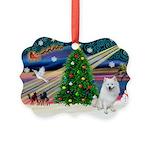 XmasMagic/Eskimo Spitz Picture Ornament