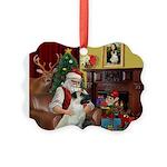 Santa/Anatolian Shep Picture Ornament