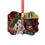Santa & Anatolian Picture Ornament