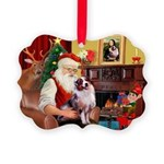 Santa's Aussie (#1) Picture Ornament