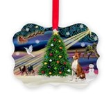 Basenji dog Picture Frame Ornaments