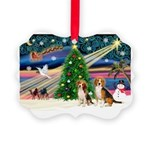 XmasMagic/2 Beagle Picture Ornament