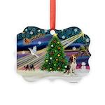 Xmas Magic & Beagle Picture Ornament