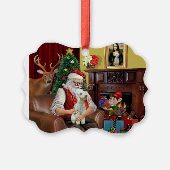 Santa's Bedlington Ornament