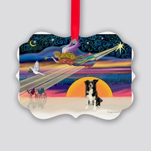XmasStar/Border Collie #4 Picture Ornament