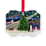 XmasMagic/ Border Collie Picture Ornament