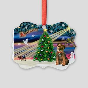 Xmas Magic & Border T Picture Ornament