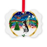 XmasMusic 3/Boston Terrier Picture Ornament