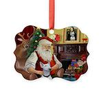 Santa's Bull Terrier Picture Ornament