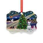 XmasMagic/ Bull Terrier Picture Ornament