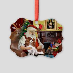 Santa's Cavalier (BL) Picture Ornament