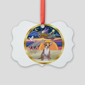 XmasStar/Chihuahua #1 Picture Ornament