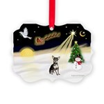 Night Flight/Chihuahua Picture Ornament