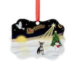 Night Flight/Chihuahua Picture Ornament