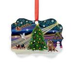Xmas Magic & Chihuahua Picture Ornament
