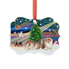 Xmas Magic & Chow Ornament