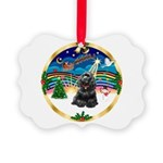 XmasMusic r (blk) #13/Cocker Picture Ornament