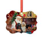 Santa's 2 Cockers Picture Ornament