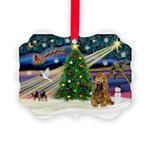 XmasMagic/Cocker (Brn) Picture Ornament