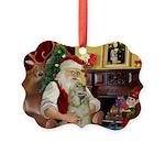 Santa's Buff Cocker Picture Ornament