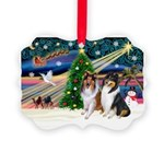 Xmas Magic & Collie Picture Ornament