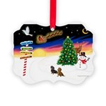 XmasSigns/2 Dachshunds Picture Ornament