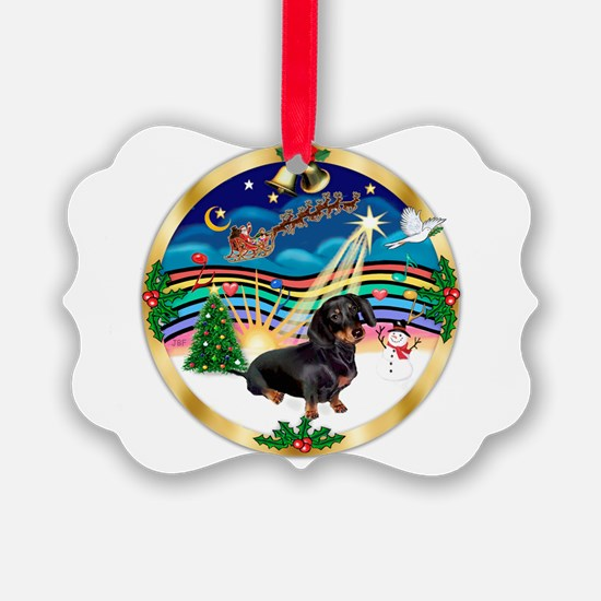 XmasMusic 3/Dachshund 17 Ornament