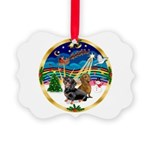 XmasMusic 3/2 Dachshunds Picture Ornament