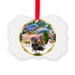 XmasMagic/2 Dachshunds Picture Ornament