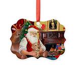 Santa's Dachshund (WH) Picture Ornament