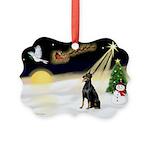 Night Flight/Dobie #1 Picture Ornament