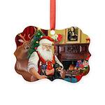 Santa's 2 Dobermans Picture Ornament