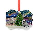 Xmas Magic & Bulldog Picture Ornament
