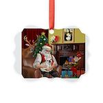 Santa's French BD (1) Picture Ornament