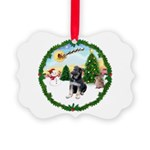 Take Off1/German Shepherd pup Picture Ornament