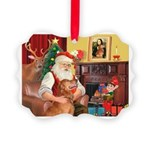 Santa's Golden (#3) Picture Ornament