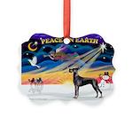XmasSunrise/Great Dane Picture Ornament